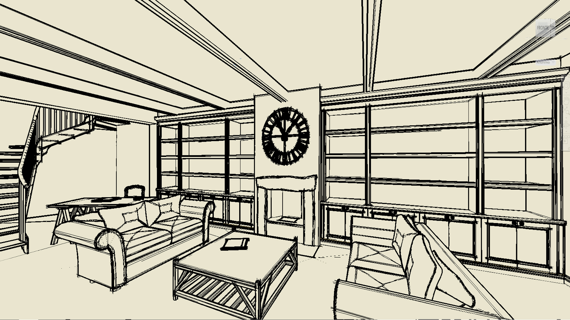 Schizzo for Architettura interni case